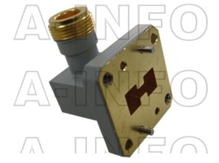 High Power Double Ridge Waveguide to Coaxial Adapter
