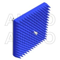 Corrugated Feed Horn Antennas with Waveguide and Coaxial Interface, Dual Linear Polarization, Equipped with Absorber