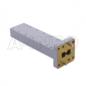 110DRWLPL_Cu WRD110 Double Ridge Waveguide Low Power Load 11-26.5GHz with Rectangular Waveguide Interface