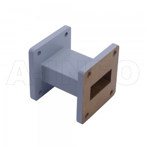 112WAL-50 WR112 Rectangular Straight Waveguide 7.05-10GHz with Two Rectangular Waveguide Interfaces