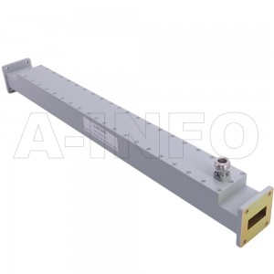 112WCN-50 WR112 Waveguide High Directional Coupler WCx-XX Type 7.05-10GHz 50dB Coupling N Type Female