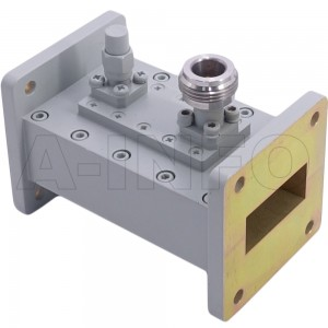 112WHCN-40 WR112 Waveguide Loop Coupler WHCx-XX Type 7.05-10GHz 40dB Coupling N Type Female