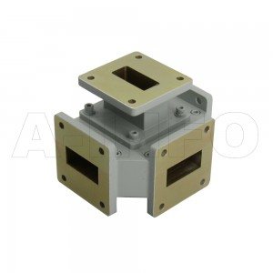 112WMT WR112 Waveguide Magic Tee 7.05-10GHz with Four Rectangular Waveguide Interfaces