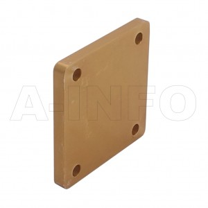 112WS WR112 Waveguide Short Plates 7.05-10GHz with Rectangular Waveguide Interface