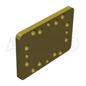 112WS_P0 WR112 Waveguide Short Plates 7.05-10GHz with Rectangular Waveguide Interface