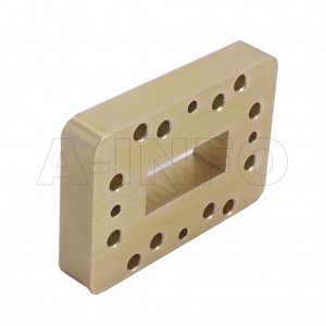 112WSPA14_P0 WR112 Wavelength 1/4 Spacer(Shim) 7.05-10GHz with Rectangular Waveguide Interfaces