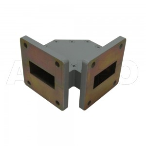 112WTHB-35-35 WR112 Miter Bend Waveguide H-Plane 7.05-10GHz with Two Rectangular Waveguide Interfaces