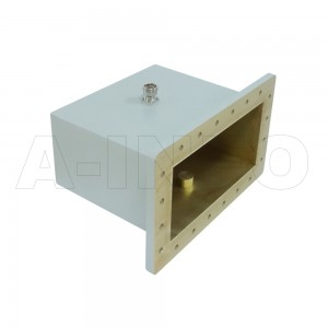 1150WCA7/16 Right Angle Rectangular Waveguide to Coaxial Adapter 0.64-0.96GHz WR1150 to 7/16 DIN Female