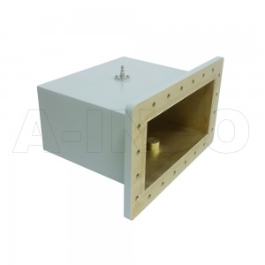 1150WCAS Right Angle Rectangular Waveguide to Coaxial Adapter 0.64-0.96GHz WR1150 to SMA Female