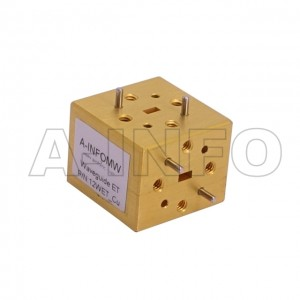 12WET_Cu WR12 Waveguide E-Plane Tee 60-90GHz with Three Rectangular Waveguide Interfaces