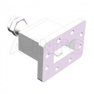 137WECANM Endlaunch Rectangular Waveguide to Coaxial Adapter 5.85-8.2GHz WR137 to N Type Male
