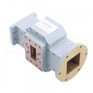 284WOMTS72.14-02 WR284 Waveguide Ortho-Mode Transducer(OMT) 2.6-3.95GHz 72.14mm(2.842inch) Square Waveguide Common Port