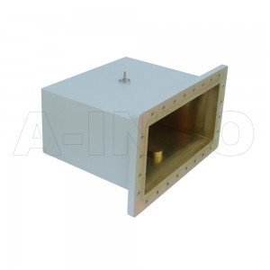 1500WCAS Right Angle Rectangular Waveguide to Coaxial Adapter 0.49-0.75GHz WR1500 to SMA Female