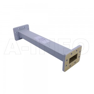 159WAL-300 WR159 Rectangular Straight Waveguide 4.9-7.05GHz with Two Rectangular Waveguide Interfaces