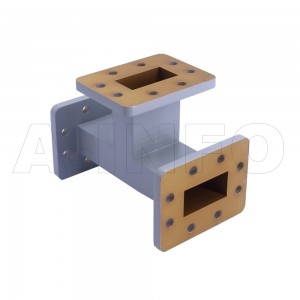 159WET WR159 Waveguide E-Plane Tee 4.9-7.05GHz with Three Rectangular Waveguide Interfaces