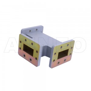 229WHT WR229 Waveguide H-Plane Tee 3.3-4.9GHz with Three Rectangular Waveguide Interfaces