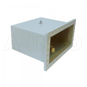 1800WCAN Right Angle Rectangular Waveguide to Coaxial Adapter 0.41-0.62GHz WR1800 to N Type Female