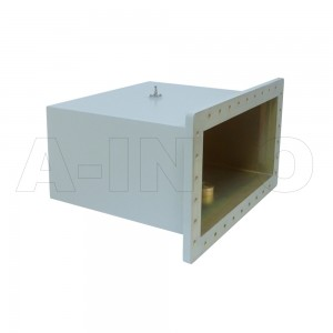 1800WCAS Right Angle Rectangular Waveguide to Coaxial Adapter 0.41-0.62GHz WR1800 to SMA Female