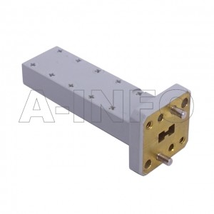 180DRWLPL_Cu WRD180 Double Ridge Waveguide Low Power Load 18-40GHz with Rectangular Waveguide Interface