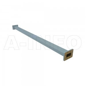 187WAL-1000 WR187 Rectangular Straight Waveguide 3.95-5.85GHz with Two Rectangular Waveguide Interfaces
