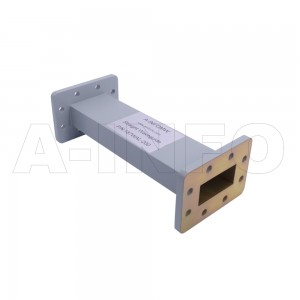 187WAL-200 WR187 Rectangular Straight Waveguide 3.95-5.85GHz with Two Rectangular Waveguide Interfaces
