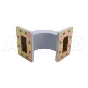 187WEB-80-80-40 WR187 Radius Bend Waveguide E-Plane 3.95-5.85GHz with Two Rectangular Waveguide Interfaces