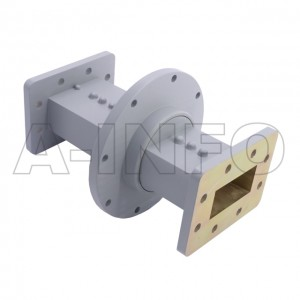 187WRJI-06A WR187 I-Type Single Channel Waveguide Rotary Joint 4.4-4.6GHz with Two Rectangular Waveguide Interfaces