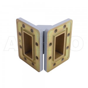 187WTEB-40-40_DMDM WR187 Miter Bend Waveguide E-Plane 3.95-5.85GHz with Two Rectangular Waveguide Interfaces