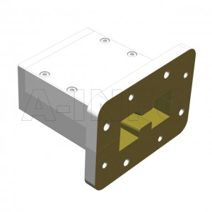 200DRWECAS Endlaunch Double Ridge Waveguide to Coaxial Adapter 2-4.8GHz WRD200 to SMA Female