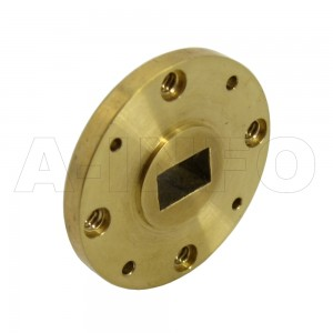 22-FUGP400_Cu WR22 Waveguide Flange 33-50GHz with Rectangular Waveguide Interface