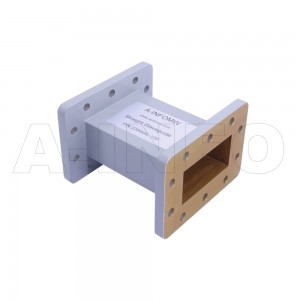 229WAL-100 WR229 Rectangular Straight Waveguide 3.3-4.9GHz with Two Rectangular Waveguide Interfaces
