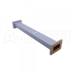 229WAL-500 WR229 Rectangular Straight Waveguide 3.3-4.9GHz with Two Rectangular Waveguide Interfaces