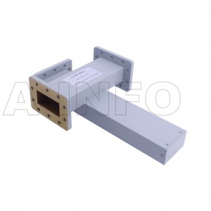 229WL+C-40 WR229 Waveguide Cross Coupler WL+C-XX Type 3.3-4.9GHz 40dB Coupling with Three Rectangular Waveguide Interfaces