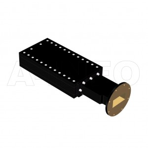 229WMPL1000_AE WR229 Waveguide Medium Power Load 3.3-4.9GHz with Rectangular Waveguide Interface