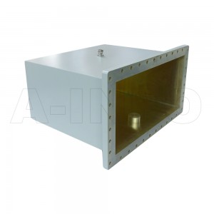 2100WCA7/16 Right Angle Rectangular Waveguide to Coaxial Adapter 0.35-0.53GHz WR2100 to 7/16 DIN Female