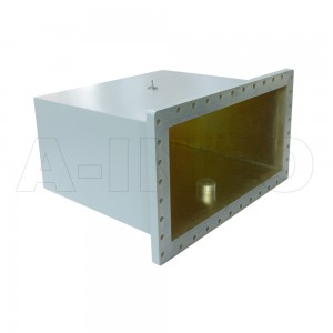 2100WCAS Right Angle Rectangular Waveguide to Coaxial Adapter 0.35-0.53GHz WR2100 to SMA Female