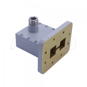 250DRWHCAN Right Angle High Power Double Ridge Waveguide to Coaxial Adapter 2.6-7.8GHz WRD250 to N Type Female
