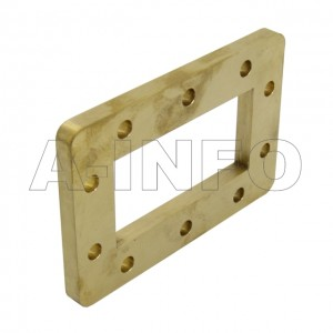 284-FDM32_Cu WR284 Waveguide Flange 2.6-3.95GHz with Rectangular Waveguide Interface