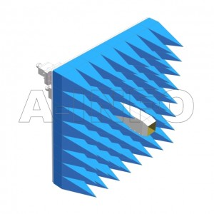 284EWGNE-T02-A1 Dual Polarization Waveguide Probes 2.6-3.95GHz 8dB Gain N Type Female Equipped with Absorber