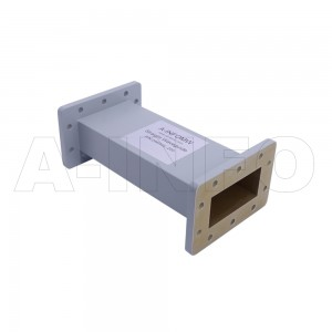 284WAL-200 WR284 Rectangular Straight Waveguide 2.6-3.95GHz with Two Rectangular Waveguide Interfaces