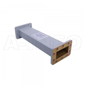 284WAL-300 WR284 Rectangular Straight Waveguide 2.6-3.95GHz with Two Rectangular Waveguide Interfaces