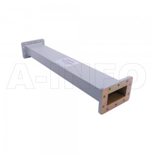 284WAL-500 WR284 Rectangular Straight Waveguide 2.6-3.95GHz with Two Rectangular Waveguide Interfaces