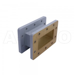 284WAL-50 WR284 Rectangular Straight Waveguide 2.6-3.95GHz with Two Rectangular Waveguide Interfaces