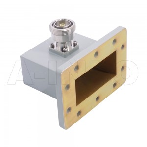 284WCA7/16 Right Angle Rectangular Waveguide to Coaxial Adapter 2.6-3.95GHz WR284 to 7/16 DIN Female