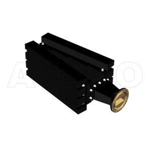 284WHPL3500_AE WR284 Waveguide High Power Load 2.6-3.95GHz with Rectangular Waveguide Interface