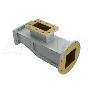 284WOMTS62-06 WR284 Waveguide Ortho-Mode Transducer(OMT) 2.6-3.4GHz 62mm(2.442inch) Square Waveguide Common Port