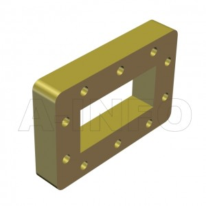 284WSPA-15 WR284 Customized Spacer(Shim) 2.6-3.95GHz with Rectangular Waveguide Interfaces