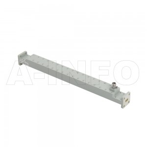 28WCK-40_Cu WR28 Waveguide High Directional Coupler WCx-XX Type 26.5-40GHz 40dB Coupling 2.92mm Female