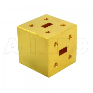 28WET_Cu WR28 Waveguide E-Plane Tee 26.5-40GHz with Three Rectangular Waveguide Interfaces