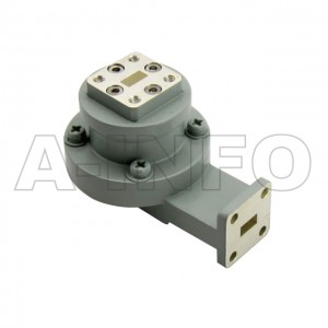 28WRJL-06C_Cu WR28 L-Type Single Channel Waveguide Rotary Joint 34-36GHz with Two Rectangular Waveguide Interfaces